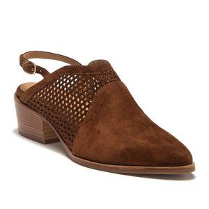 """Italeau """"Toselli"""" perforated mule Suede 11 NEW"""